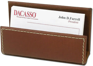 A3207 rustic brown leather business card holder