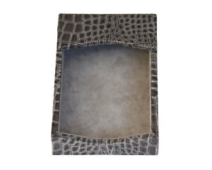 Protacini Castlerock Grayitalian Patent Leather 4 X 6 Memo Holder