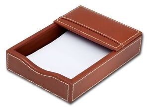 A3209 rustic brown leather 4 x 6 memo holder
