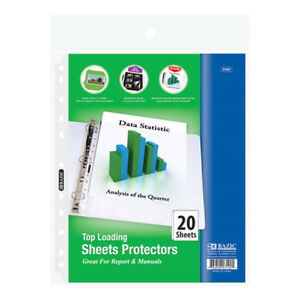 Bazic Top Loading Sheet Protectors 20 pack
