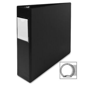 Sparco Products 3 Ring Label Hold Binder 2 capacity 11 x8 1 2 Black Case