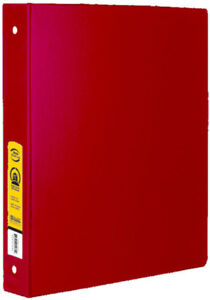 Bazic 1 Red 3 ring Binder With 2 pockets Case Pack 12