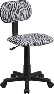 Black And White Zebra Print Swivel Task Chair