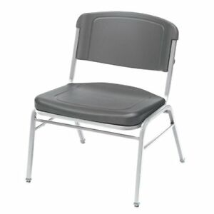4 Pack Big Tall Stack Chair Charcoal