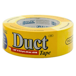 Bazic 1 88 Inch X 60 Yards Yellow Duct Tape Pack Of 12