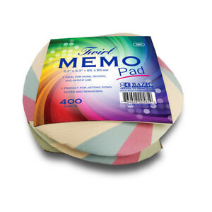 Bazic 85 Mm X 85 Mm 400 Ct Twirl Memo Pad Pack Of 36