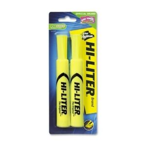 Avery Consumer Products Highlighter chisel Point 2 cd fluorescent Yellow Case