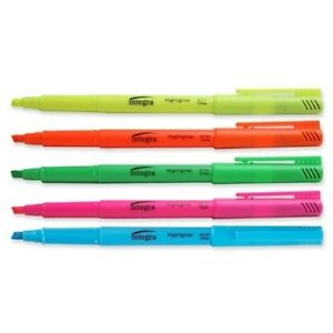 Pen Style Highlighter chisel Point Fluorescent Asst Case Pack 18