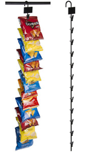 25 12 Clip Hanging Metal Wire Snack Potato Chip Single Strip Display Racks