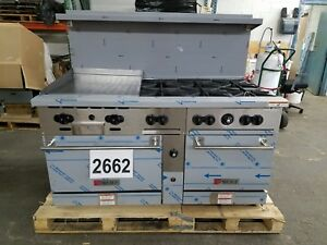 2662 new s d Wolf 60 Range 2 ovens 6 burner 24 Griddle Model c60ss 6b24g