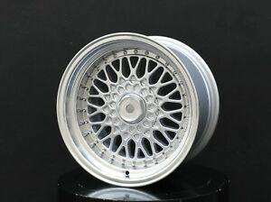 Bbs Rs Style Wheels Rims 15x8 Inch 4x100 Et 18 Silver For Mazda Miata Mx5 Na Nb