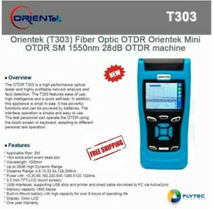 Orientek T303 Fiber Optic Otdr Orientek T303 Mini Otdr Sm 1550nm 28db Otdr