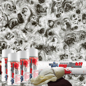 Hydro Dipping Water Transfer Printing Hydrographic Dip Kit Greyscale Burl Bw1210