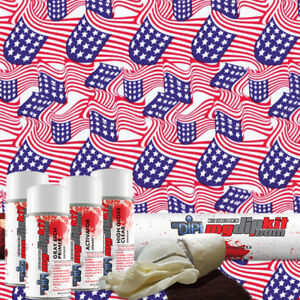 Hydro Dipping Water Transfer Printing Hydrographic Film Dip Kit Usa Flag Ll 361