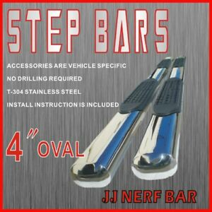 2013 Silverado 1500hd Crew Cab 4 Oval Nerf Bars Side Steps Rails Running Boards