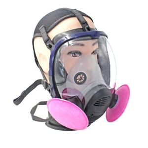 Full Face Respirator Anti dust Chemical Safety Gas Mask With Cotton Filter Xp