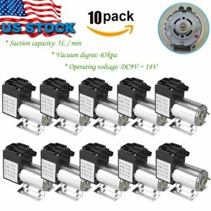 10x Dc12v 120kpa 5l min Vacuum Pump Negative Pressure Suction Micro Pump 6w Bp