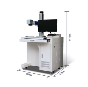 30w Desktop Fiber Laser Marking Machine With Computer For Metal Non Metal