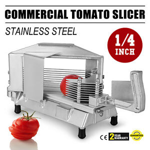 Commercial Fruit Tomato Slicer 1 4 cutting Machine Stainless Steel Blade Chopper