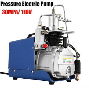 30mpa Electric Air Compressor Pump Pcp Charge Pressure Water Cooling 110v 50hz B