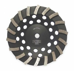 7 Turbo Segment Cup Grinding Wheel 5 8 11 Arbor 8600 Max Rpm Segments 18