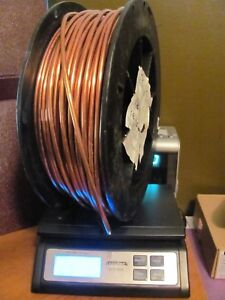 Bare Solid Copper Wire 4 Awg 200 Ft Spool Approximately 175 Left