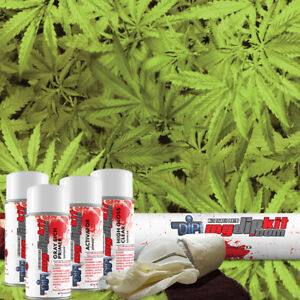 Hydrographic Film Kit Hydro Dipping Water Transfer Printing Weed Leaf Rc 432