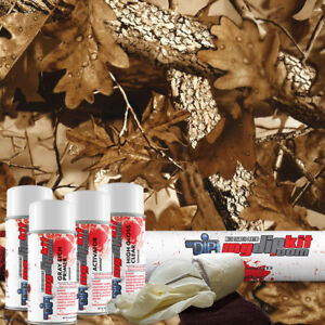 Hydrographic Film Dip Kit Hydro Dipping Water Transfer Print Fall Leaves Hc213