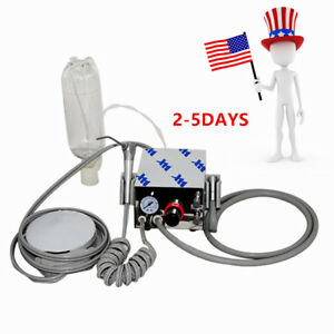 Dental Portable Air Turbine Unit Fit Compressor 4 Hole Handpiece Syringe usa