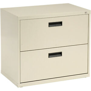 30 w Lateral File Cabinet 2 Drawer Putty Lot Of 1