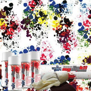 Hydrographic Film Dip Kit Hydro Dip Water Transfer Printing Paint Splatter Dd967