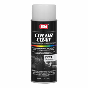 Sem 13023 Color Coat Clears Low Luster Clear Spray Paint Aerosol Can 12 Oz