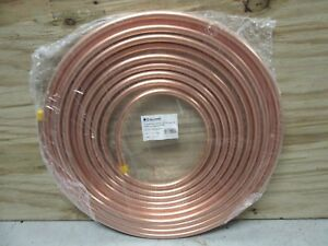 New Copper Tubing 3 4 Od X 50 Refrigeration Hvac Tube Coil Seamles Ductless