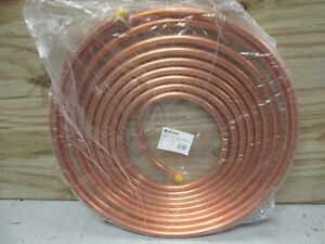 New Copper Tubing 7 8 Od X 50 Refrigeration Hvac Tube Coil Seamles Ductless