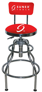 Sunex 8516 Hydraulic Shop Stool Chrome Other Auto Tools Supplies Automotive Ebay