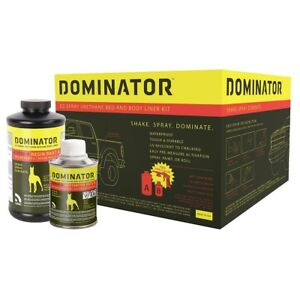 Usc 20002 Dominator Black Urethane Truck Bed Liner Spray on Kit W Gun 2000 2