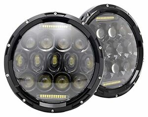 Buick Apollo Century 1973 1974 1975 7 Inch Round Cree Led Headlights White