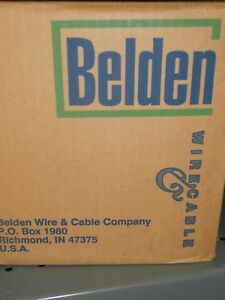 83009 500 Ft Belden White Hi temp Teflon 18awg Silver Coated Hook Up Wire nos