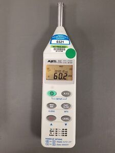 Martel 322 Data Logger Sound Level Db Meter