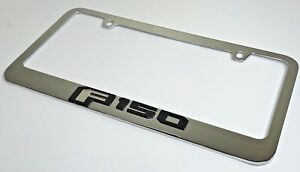 Ford F 150 Emblem Premium Chrome License Plate Frame 2015