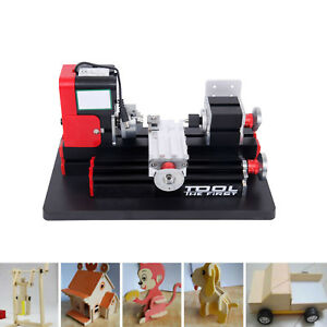 Metal Mini Motorized Lathe Machine 24w Woodworking Diy Power Tools Modelmaking