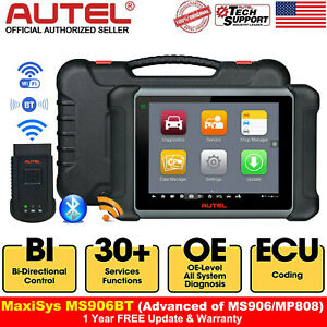 Autel Maxisys Ms906bt Auto Diagnostic Scan Tool All System Ecu Coding As Ms908