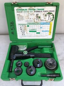 Greenlee 7906sb Quick Draw 90 Hydraulic Punch Driver Kit 1 2 2 Parts Repair