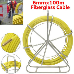 328ft Fiberglass Duct Rodder Fish Tape Cable Wire Puller Electrical Plumber Us