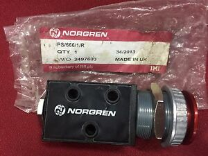 Ps 666 1 r Norgren 3 2 way 1 8 Pneumatic Push Button Valve red