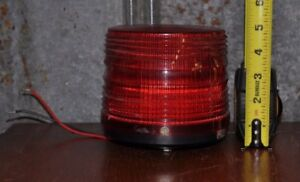 Federal Signal Electraflash Safety Strobe Model 141 Series A1 24v Red Dome Gc