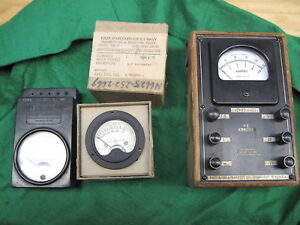 3 Vintage Steampunk Meters Weston 687 G 113 Ge Dw 41 From Us Navy