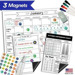 Magnetic Dry Erase Refrigerator Calendar 17 X 11 Large Reusable Monthly
