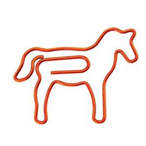 Ruiling 60 Pack Cute Fun Red Horse Paper Clips Creative Animal Shape Great