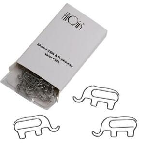 Cute Bookmarks Paper Clips Elephant value Refill Pack Funny Office Supplies